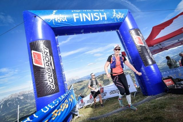 Ziel/Finish Kaisermarathon Söll Tirol