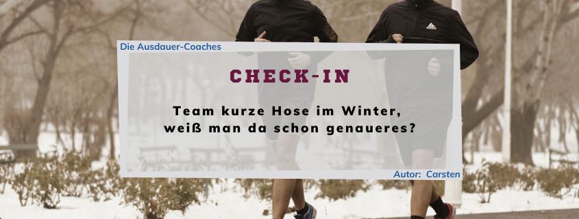 Check-In - Eine Kolumne über Ausdauer-Sport - Folge 02